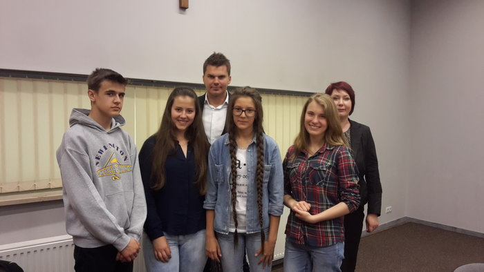 Grupa ze szkoły z Wąsosza